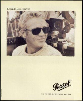 McQueen featured in Persol Sunglasses Ad