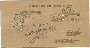 Instructions for firing the Rifle