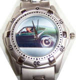 watch featuring image of steve mcqueen in mustang fastback