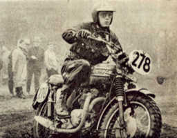 McQueen riding bike at the Six Day Motorcycle Trials
