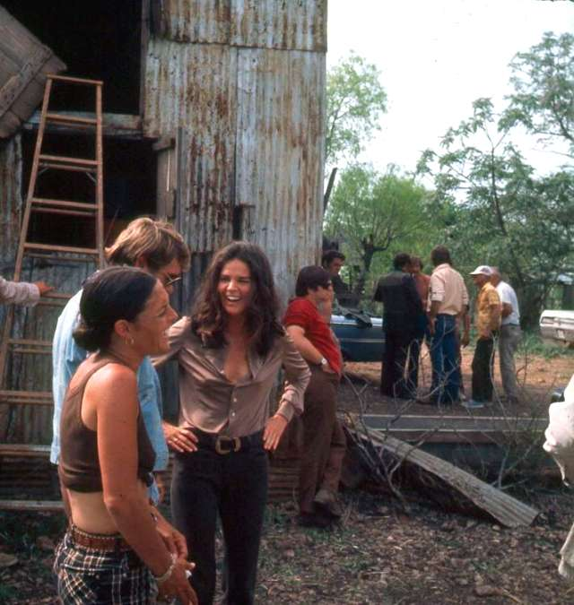 Ali MacGraw on 'The Getaway' set with crew