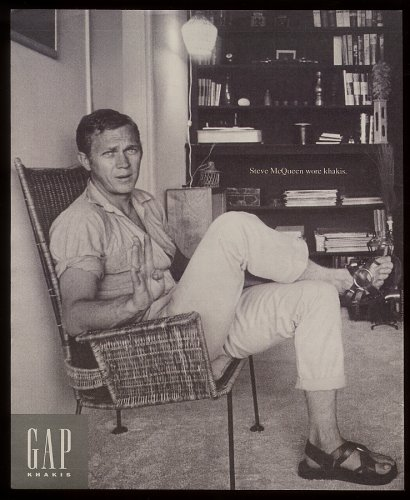 McQueen featured in GAP khakis Ad