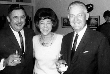 Lucy Norris with Robert Wise at a Dinner Party