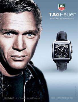 McQueen featured in a Tag Heuer Ad