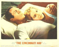 Movie poster/lobby card featuring Steve McQueen and Tuesday Weld - from 'The Cincinnati Kid'