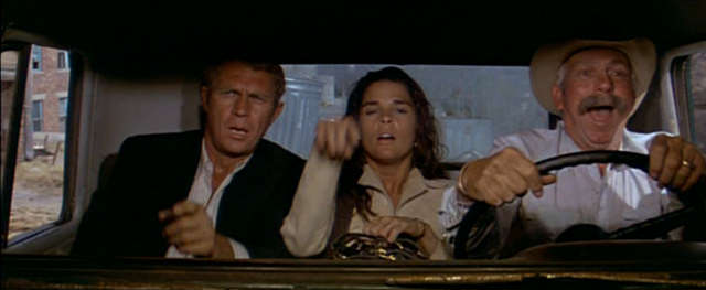 McQueen, MacGraw and legendary screen cowboy Slim Pickens