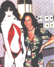 Recent picture of Barbara and the Vampirella mannequin